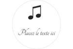 Clavier musical Étiquettes arrondies - gabarit prédéfini. <br/>Utilisez notre logiciel Avery Design & Print Online pour personnaliser facilement la conception.