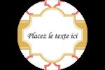 Tuile marocaine saumon Étiquettes arrondies - gabarit prédéfini. <br/>Utilisez notre logiciel Avery Design & Print Online pour personnaliser facilement la conception.