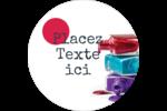 Flacons de vernis Étiquettes rondes - gabarit prédéfini. <br/>Utilisez notre logiciel Avery Design & Print Online pour personnaliser facilement la conception.