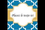Tuile marocaine bleue Étiquettes enveloppantes - gabarit prédéfini. <br/>Utilisez notre logiciel Avery Design & Print Online pour personnaliser facilement la conception.