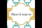 Tuile marocaine sarcelle Étiquettes enveloppantes - gabarit prédéfini. <br/>Utilisez notre logiciel Avery Design & Print Online pour personnaliser facilement la conception.