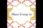 Tuile marocaine saumon Étiquettes enveloppantes - gabarit prédéfini. <br/>Utilisez notre logiciel Avery Design & Print Online pour personnaliser facilement la conception.
