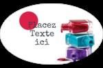 Flacons de vernis Étiquettes carrées - gabarit prédéfini. <br/>Utilisez notre logiciel Avery Design & Print Online pour personnaliser facilement la conception.