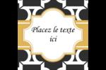 Tuile marocaine noire Étiquettes carrées - gabarit prédéfini. <br/>Utilisez notre logiciel Avery Design & Print Online pour personnaliser facilement la conception.