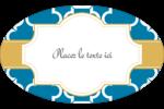 Tuile marocaine bleue Étiquettes carrées - gabarit prédéfini. <br/>Utilisez notre logiciel Avery Design & Print Online pour personnaliser facilement la conception.