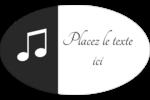 Clavier musical Étiquettes carrées - gabarit prédéfini. <br/>Utilisez notre logiciel Avery Design & Print Online pour personnaliser facilement la conception.