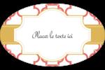 Tuile marocaine saumon Étiquettes carrées - gabarit prédéfini. <br/>Utilisez notre logiciel Avery Design & Print Online pour personnaliser facilement la conception.