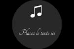 Clavier musical Étiquettes Voyantes - gabarit prédéfini. <br/>Utilisez notre logiciel Avery Design & Print Online pour personnaliser facilement la conception.