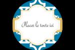 Tuile marocaine bleue Étiquettes Voyantes - gabarit prédéfini. <br/>Utilisez notre logiciel Avery Design & Print Online pour personnaliser facilement la conception.