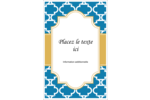Tuile marocaine bleue Reliures - gabarit prédéfini. <br/>Utilisez notre logiciel Avery Design & Print Online pour personnaliser facilement la conception.
