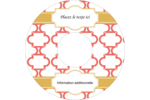 Tuile marocaine saumon Étiquettes de classement - gabarit prédéfini. <br/>Utilisez notre logiciel Avery Design & Print Online pour personnaliser facilement la conception.