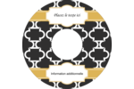 Tuile marocaine noire Étiquettes de classement - gabarit prédéfini. <br/>Utilisez notre logiciel Avery Design & Print Online pour personnaliser facilement la conception.