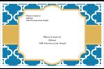 Tuile marocaine bleue Étiquettes d'adresse - gabarit prédéfini. <br/>Utilisez notre logiciel Avery Design & Print Online pour personnaliser facilement la conception.