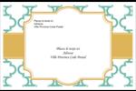 Tuile marocaine sarcelle Étiquettes d'adresse - gabarit prédéfini. <br/>Utilisez notre logiciel Avery Design & Print Online pour personnaliser facilement la conception.