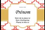 Tuile marocaine saumon Étiquettes à codage couleur - gabarit prédéfini. <br/>Utilisez notre logiciel Avery Design & Print Online pour personnaliser facilement la conception.