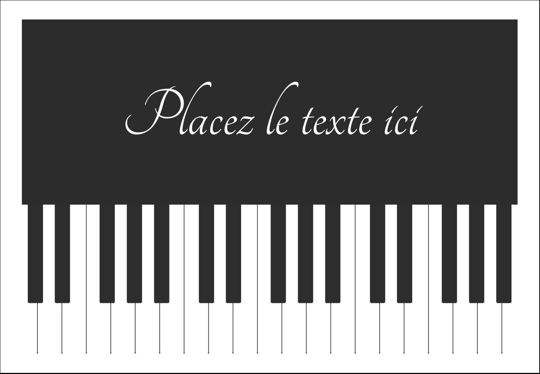 """1¼"""" Étiquettes à codage couleur - Clavier musical"""