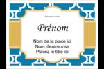 Tuile marocaine bleue Badges - gabarit prédéfini. <br/>Utilisez notre logiciel Avery Design & Print Online pour personnaliser facilement la conception.