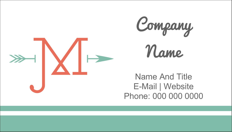 "2"" x 3½"" Business Card - Monogram"
