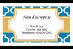 Tuile marocaine bleue Carte d'affaire - gabarit prédéfini. <br/>Utilisez notre logiciel Avery Design & Print Online pour personnaliser facilement la conception.
