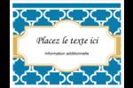 Tuile marocaine bleue Cartes Et Articles D'Artisanat Imprimables - gabarit prédéfini. <br/>Utilisez notre logiciel Avery Design & Print Online pour personnaliser facilement la conception.