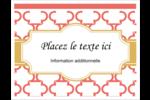 Tuile marocaine saumon Cartes Et Articles D'Artisanat Imprimables - gabarit prédéfini. <br/>Utilisez notre logiciel Avery Design & Print Online pour personnaliser facilement la conception.