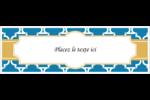 Tuile marocaine bleue Carte de note - gabarit prédéfini. <br/>Utilisez notre logiciel Avery Design & Print Online pour personnaliser facilement la conception.