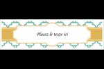 Tuile marocaine sarcelle Affichette - gabarit prédéfini. <br/>Utilisez notre logiciel Avery Design & Print Online pour personnaliser facilement la conception.
