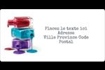 Flacons de vernis Étiquettes de classement écologiques - gabarit prédéfini. <br/>Utilisez notre logiciel Avery Design & Print Online pour personnaliser facilement la conception.