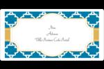 Tuile marocaine bleue Étiquettes de classement écologiques - gabarit prédéfini. <br/>Utilisez notre logiciel Avery Design & Print Online pour personnaliser facilement la conception.
