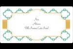 Tuile marocaine sarcelle Étiquettes de classement écologiques - gabarit prédéfini. <br/>Utilisez notre logiciel Avery Design & Print Online pour personnaliser facilement la conception.