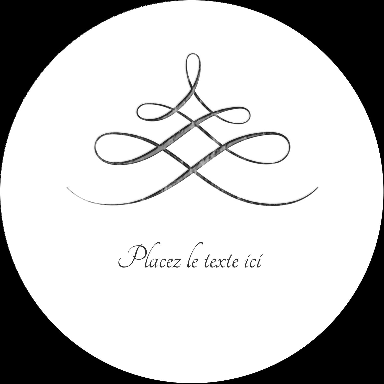"""4¾"""" x 3½"""" Étiquettes arrondies - Typographie élégante"""