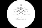 Typographie élégante Étiquettes arrondies - gabarit prédéfini. <br/>Utilisez notre logiciel Avery Design & Print Online pour personnaliser facilement la conception.
