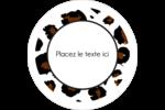 Imprimé léopard Étiquettes arrondies - gabarit prédéfini. <br/>Utilisez notre logiciel Avery Design & Print Online pour personnaliser facilement la conception.