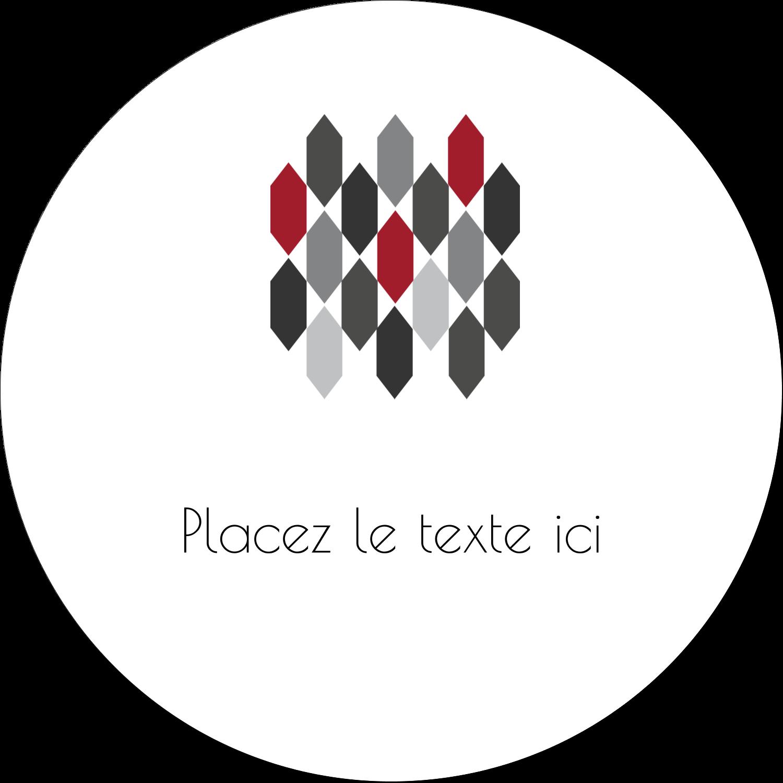 """4¾"""" x 3½"""" Étiquettes arrondies - Hexagone rouge"""