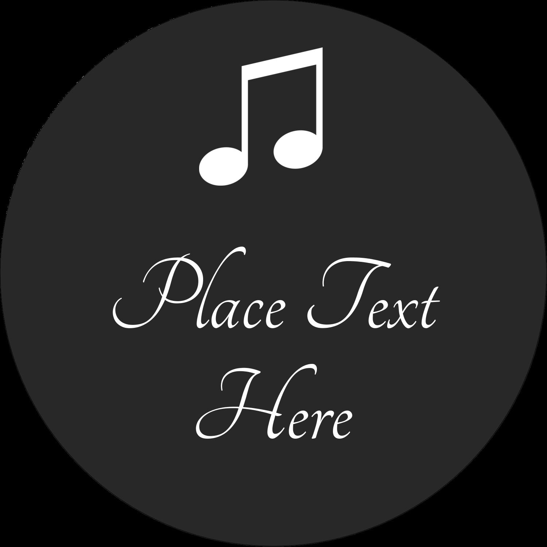 "3"" Round Label - Music Keyboard"