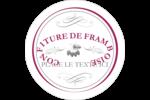 Confiture de framboises à l'ancienne Étiquettes arrondies - gabarit prédéfini. <br/>Utilisez notre logiciel Avery Design & Print Online pour personnaliser facilement la conception.