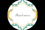 Tuile marocaine sarcelle Étiquettes rondes - gabarit prédéfini. <br/>Utilisez notre logiciel Avery Design & Print Online pour personnaliser facilement la conception.