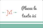 Monogramme Étiquettes rectangulaires - gabarit prédéfini. <br/>Utilisez notre logiciel Avery Design & Print Online pour personnaliser facilement la conception.