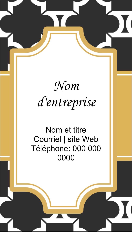 """5½"""" x 4-1/4"""" Carte de voeux - Tuile marocaine noire"""