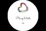Vernis à ongles en cœur Étiquettes Voyantes - gabarit prédéfini. <br/>Utilisez notre logiciel Avery Design & Print Online pour personnaliser facilement la conception.
