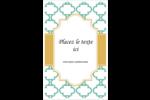 Tuile marocaine sarcelle Reliures - gabarit prédéfini. <br/>Utilisez notre logiciel Avery Design & Print Online pour personnaliser facilement la conception.