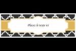 Tuile marocaine noire Carte de note - gabarit prédéfini. <br/>Utilisez notre logiciel Avery Design & Print Online pour personnaliser facilement la conception.