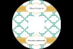 Tuile marocaine sarcelle Étiquettes de classement - gabarit prédéfini. <br/>Utilisez notre logiciel Avery Design & Print Online pour personnaliser facilement la conception.