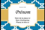 Tuile marocaine bleue Étiquettes à codage couleur - gabarit prédéfini. <br/>Utilisez notre logiciel Avery Design & Print Online pour personnaliser facilement la conception.