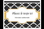Tuile marocaine noire Cartes Et Articles D'Artisanat Imprimables - gabarit prédéfini. <br/>Utilisez notre logiciel Avery Design & Print Online pour personnaliser facilement la conception.
