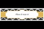 Tuile marocaine noire Affichette - gabarit prédéfini. <br/>Utilisez notre logiciel Avery Design & Print Online pour personnaliser facilement la conception.