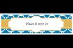 Tuile marocaine bleue Affichette - gabarit prédéfini. <br/>Utilisez notre logiciel Avery Design & Print Online pour personnaliser facilement la conception.