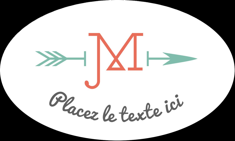 """1½"""" x 1½"""" Étiquettes carrées - Monogramme"""