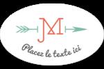 Monogramme Étiquettes carrées - gabarit prédéfini. <br/>Utilisez notre logiciel Avery Design & Print Online pour personnaliser facilement la conception.