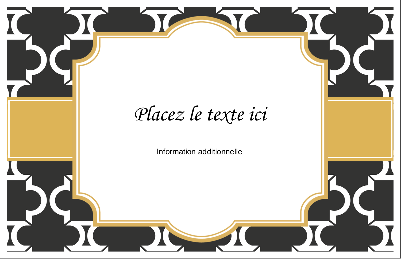 """8½"""" x 11"""" Cartes Et Articles D'Artisanat Imprimables - Tuile marocaine noire"""